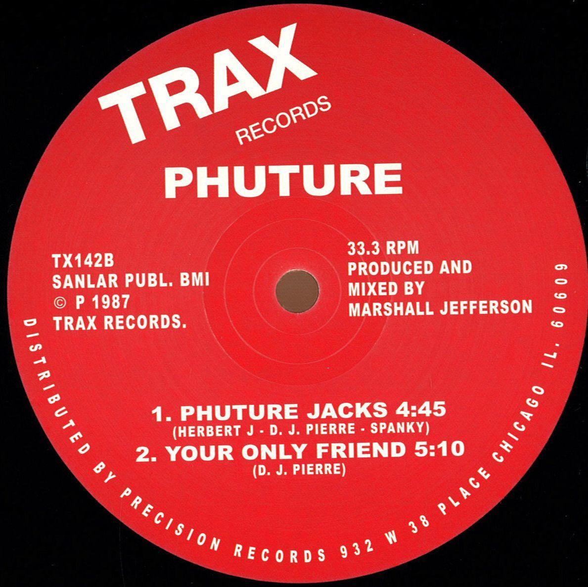 Phuture acid tracks trax records vinyl record for Acid house records